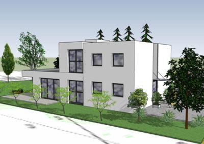 Entwurf eines Eigenheims in Gröditsch - Architekt Reinhard D. Schulz
