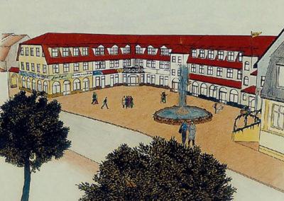 Entwurf von Geschosswohnungen, Läden und Tiefgarage im Zentrum von Bad Freienwalde - Architekt Reinhard D. Schulz